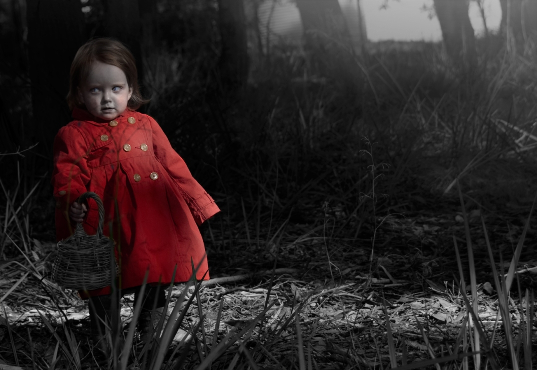 little red riding hood photoshoot