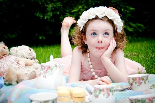 tea party child photographer