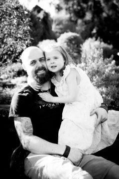 I wasn't quite sure how to describe in words the special closeness fathers and daughters have. So, I think visual language is the way to go. This photo tenderly demonstrates what I failed to write.